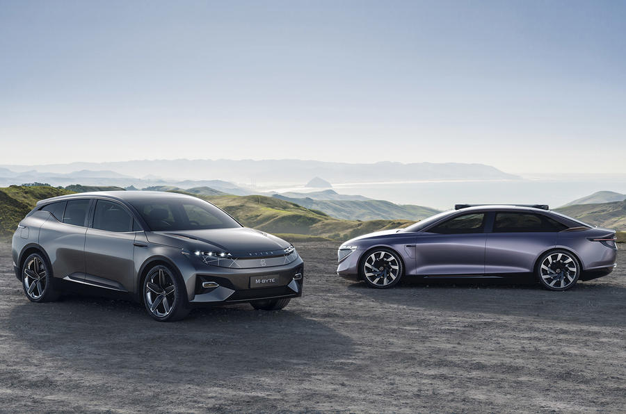 Byton K-Byte saloon concept and M-Byte SUV