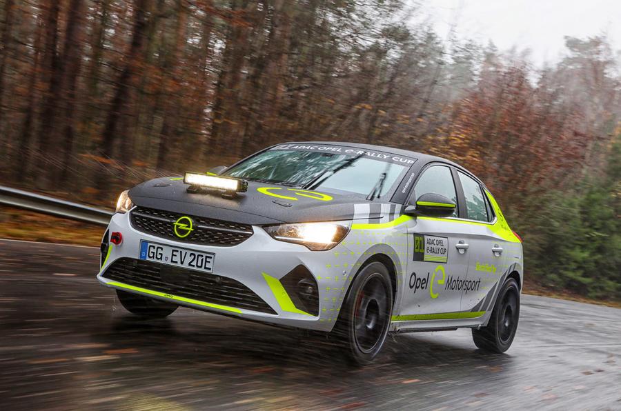 Corsa-e rally car - hero front