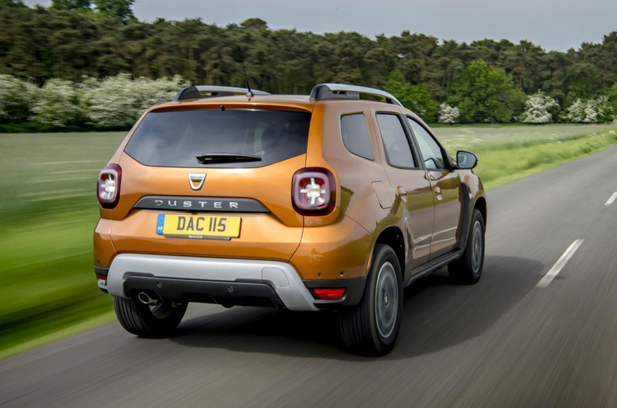 Dacia Duster 2018 first drive review hero rear