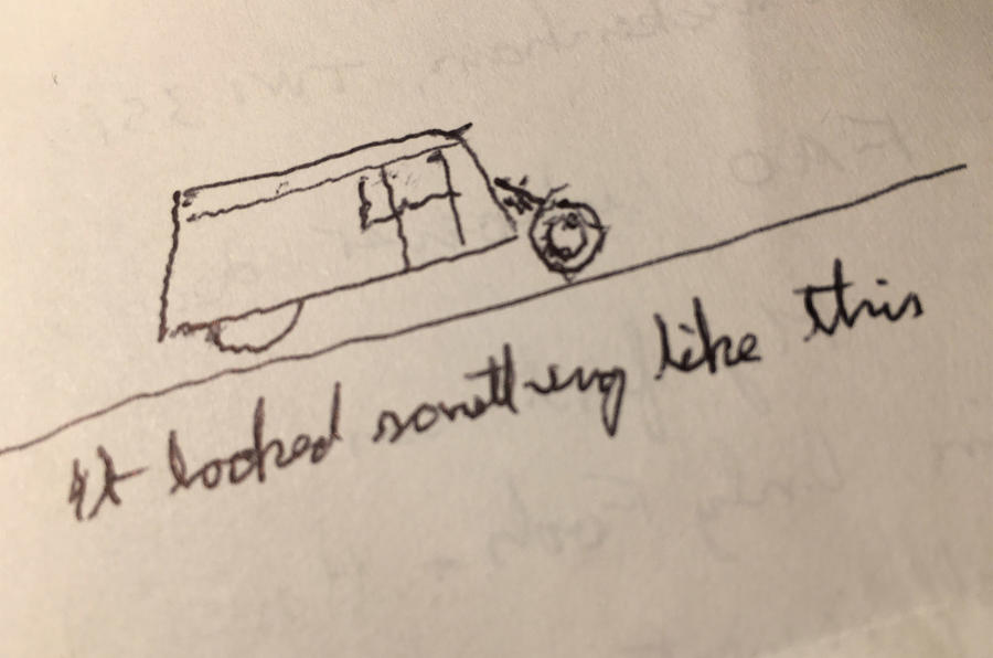 Dave Stride first car sketch
