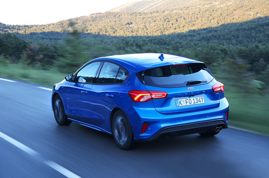 Ford Focus 2018 first drive review hero rear