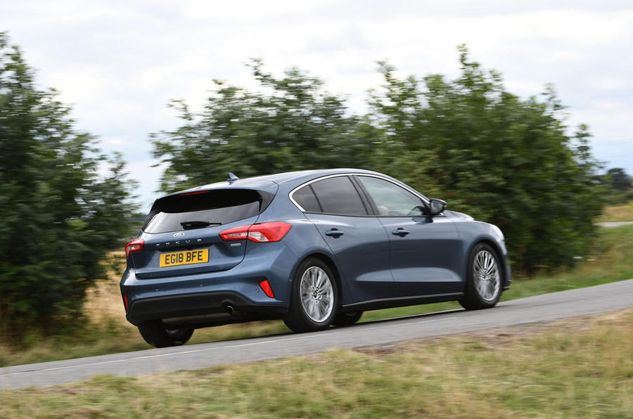 Ford Focus 1.0 Titanium X 2018 UK first drive review hero rear