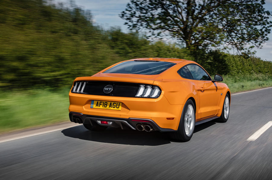 Ford Mustang GT 5.0 2018 UK review hero rear