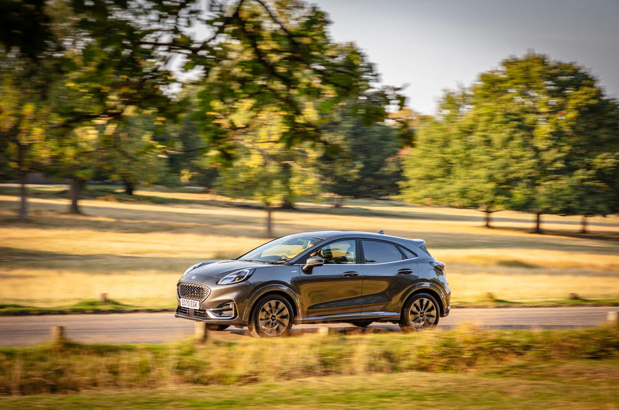 Ford Puma Vignale 2020 UK first drive review - hero side
