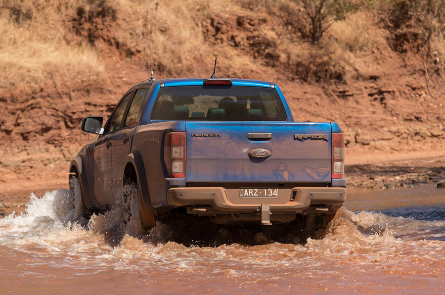 Ford Ranger Raptor 2018 first drive review rear shot
