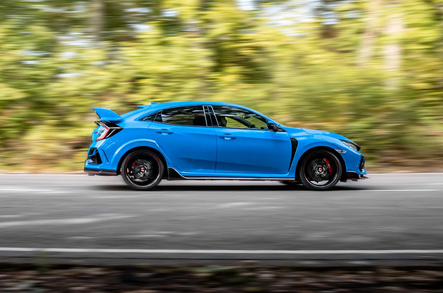 Honda Civic Type R 2020 UK first drive review - hero side