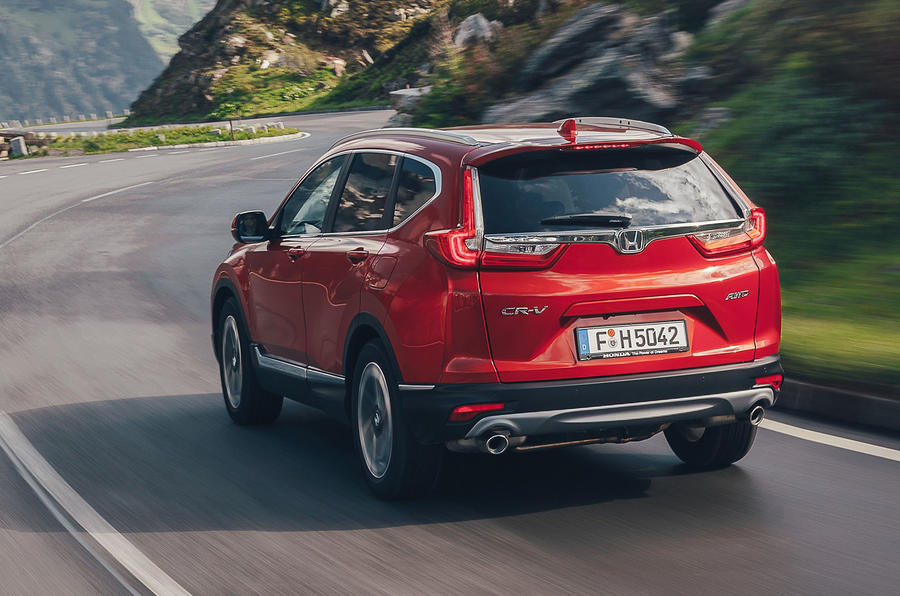 Honda CR-V 2018 first drive review hero rear