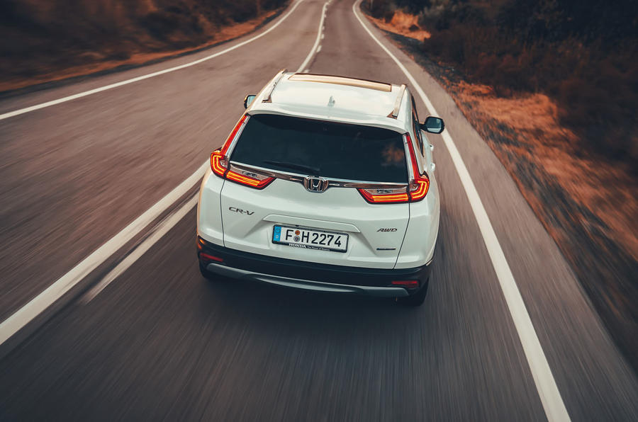 Honda CR-V hybrid 2019 first drive review - hero rear