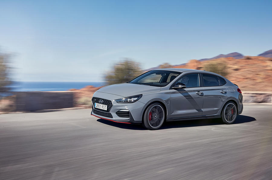 Hyundai i30 Fastback N 2019 first drive review - hero side