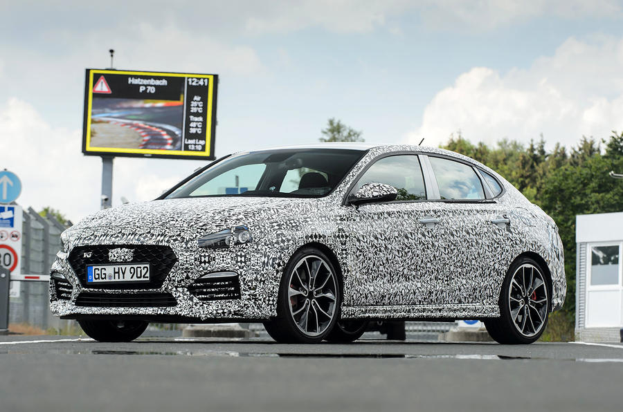 Hyundai i30 Fastback prototype official photo Nurburgring 2