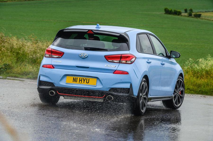 Hyundai i30 N 2020 UK first drive review - hero rear