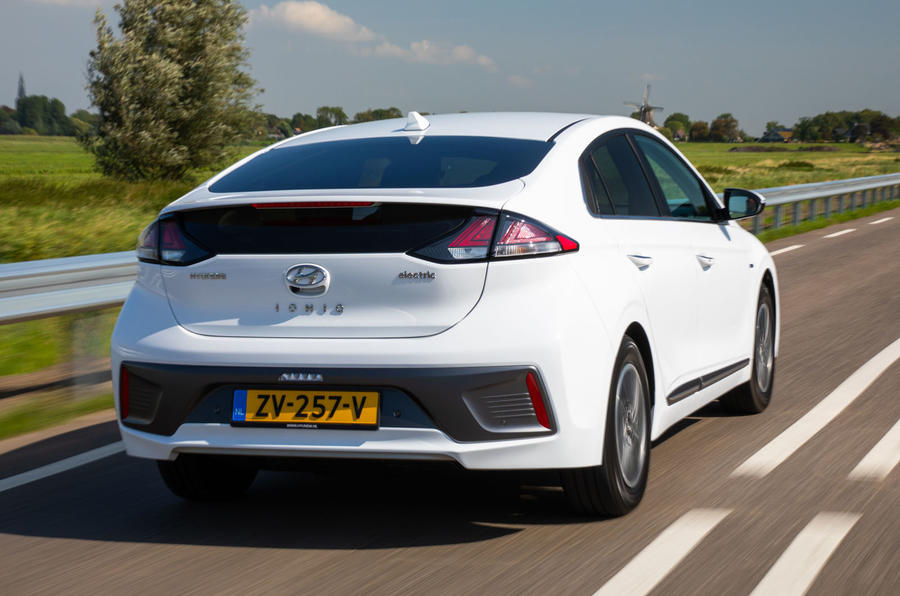 Hyundai Ioniq Electric 2019 first drive review - hero rear
