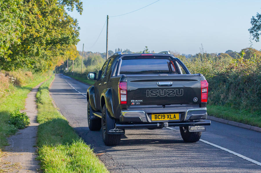 Isuzu D-Max Arctic Trucks 2020 UK first drive review - hero rear