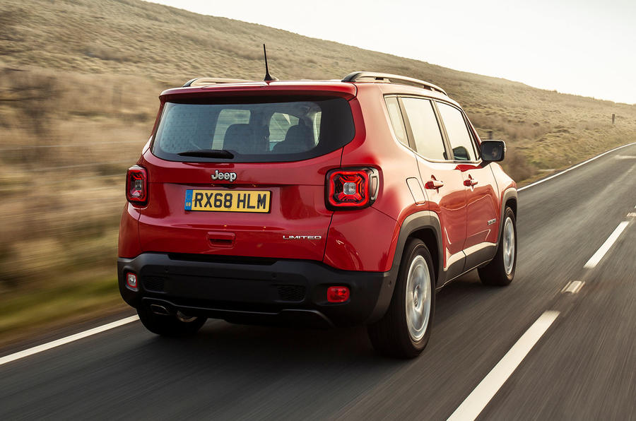 Jeep renegade Longitude 2019 UK first drive review - hero rear