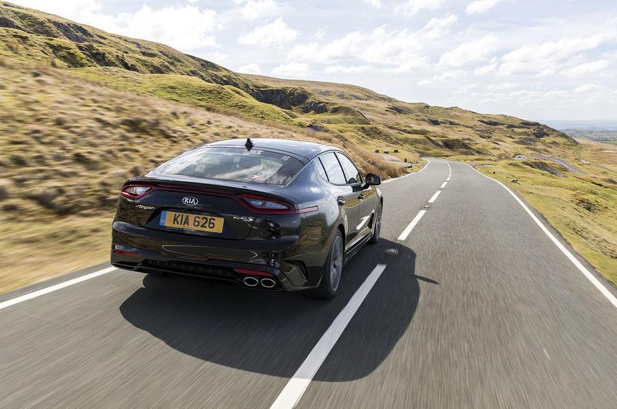 Kia Stinger 2.2 CRDi 2018 UK review hero rear