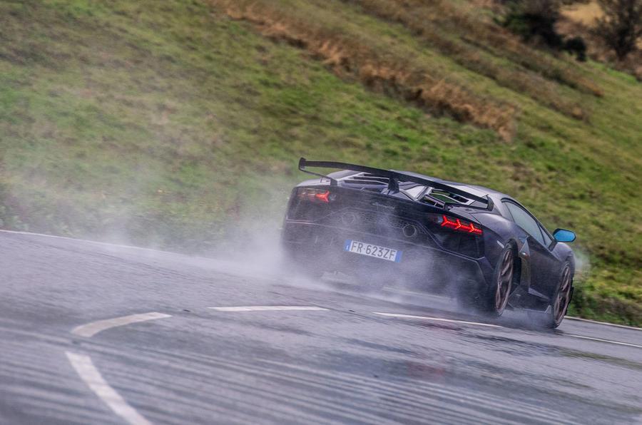 Lamborghini Aventador SVJ 2018 UK first drive review - hero rear