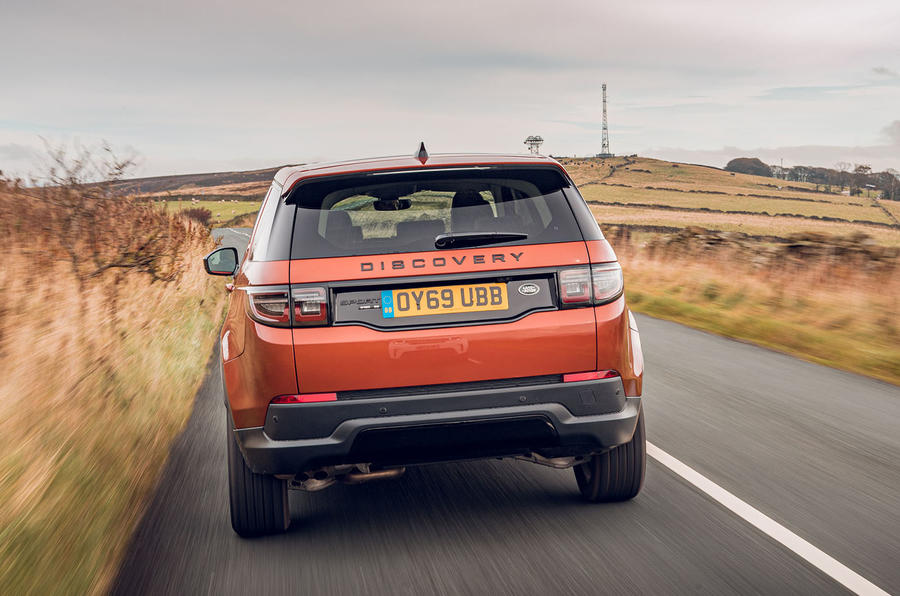 Land Rover Discovery Sport 2019 UK first drive review - hero rear