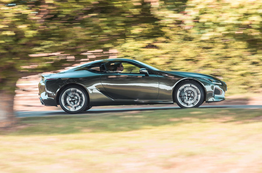Lexus LC 500 Limited Edition 2020 UK first drive review - hero side