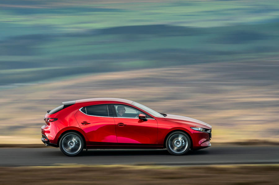 Mazda 3 2019 UK first drive review - hero side