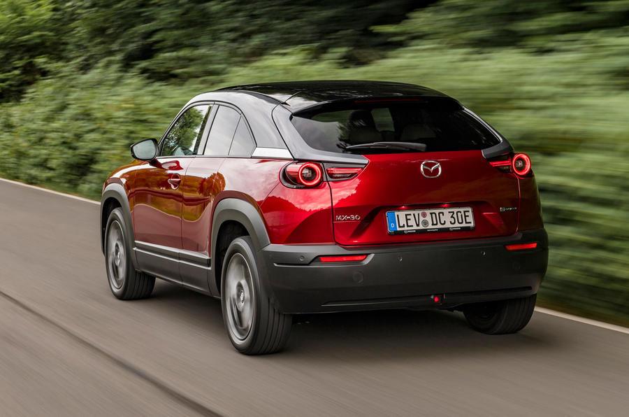 Mazda MX-30 2020 UK first drive review - hero rear