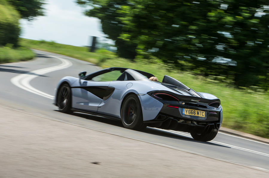 McLaren 570S Spider Track Pack 2018 UK review hero rear