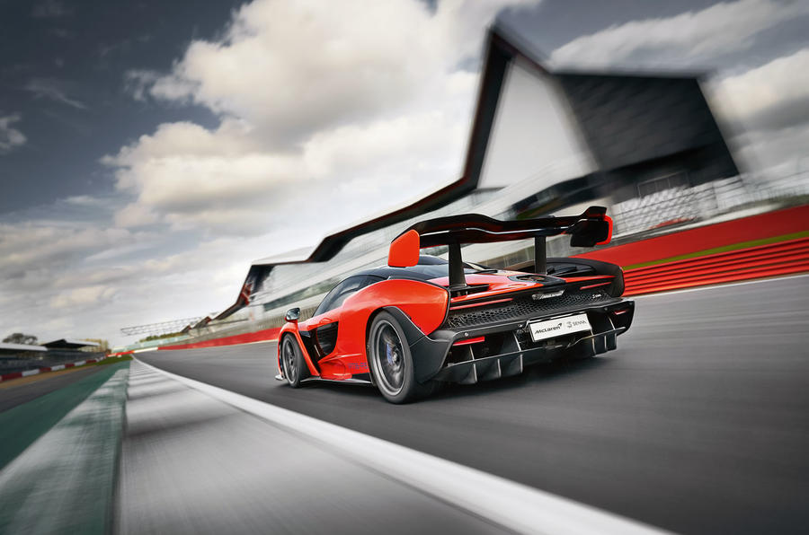McLaren Senna 2018 UK first drive review track rear