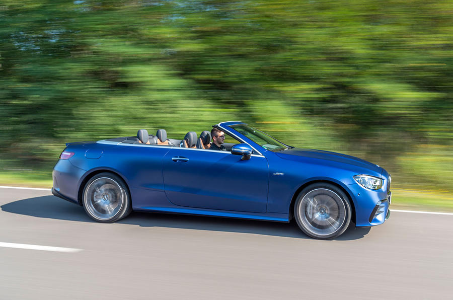 Mercedes-AMG E53 Cabriolet 2020 first drive review - side pan