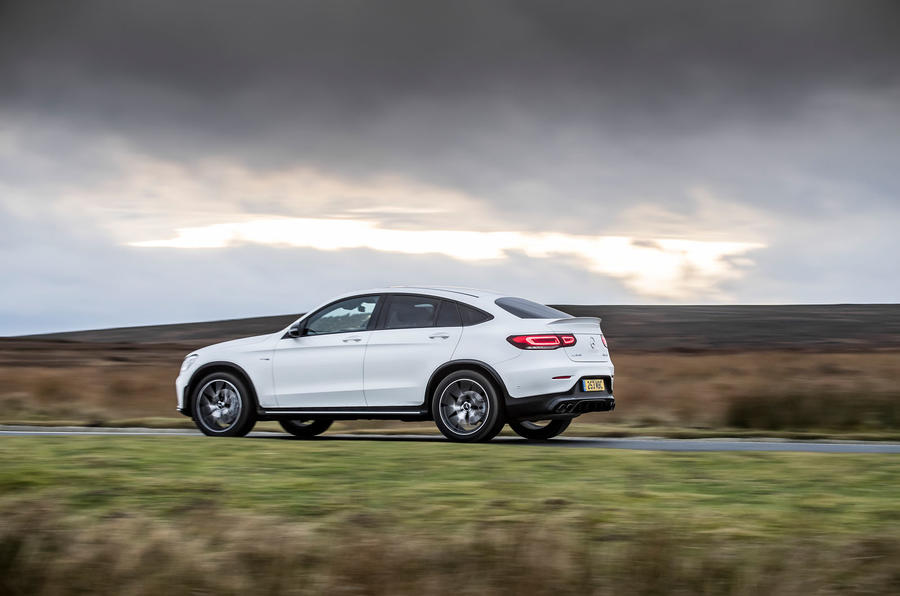 Mercedes-AMG GLC 43 Coupé 2020 UK first drive review - hero side