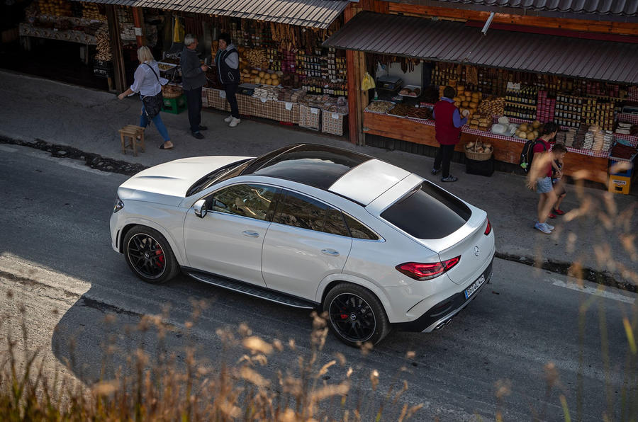 Mercedes-AMG GLE 53 prototype ride - static aerial