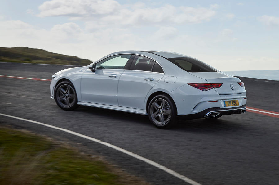 Mercedes-Benz CLA 250 2019 UK first drive review - hero rear
