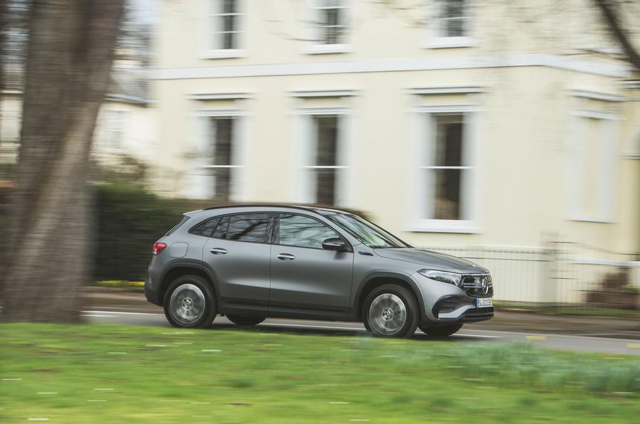 2 Mercedes Benz EQA 2021 : le premier bilan de conduite au Royaume-Uni côté héros