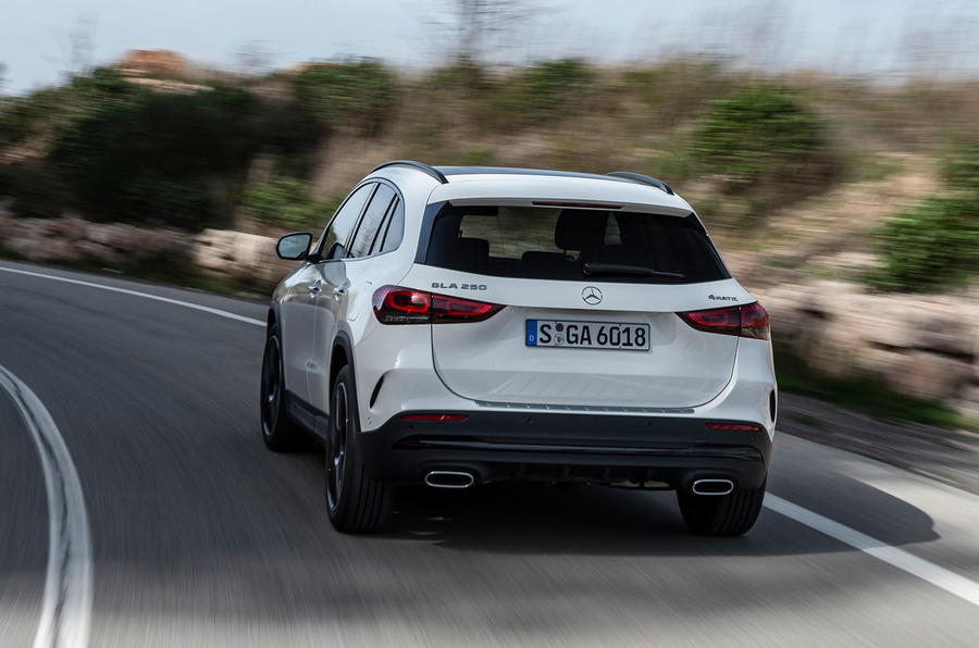 Mercedes-Benz GLA 2020 UK first drive review - hero rear