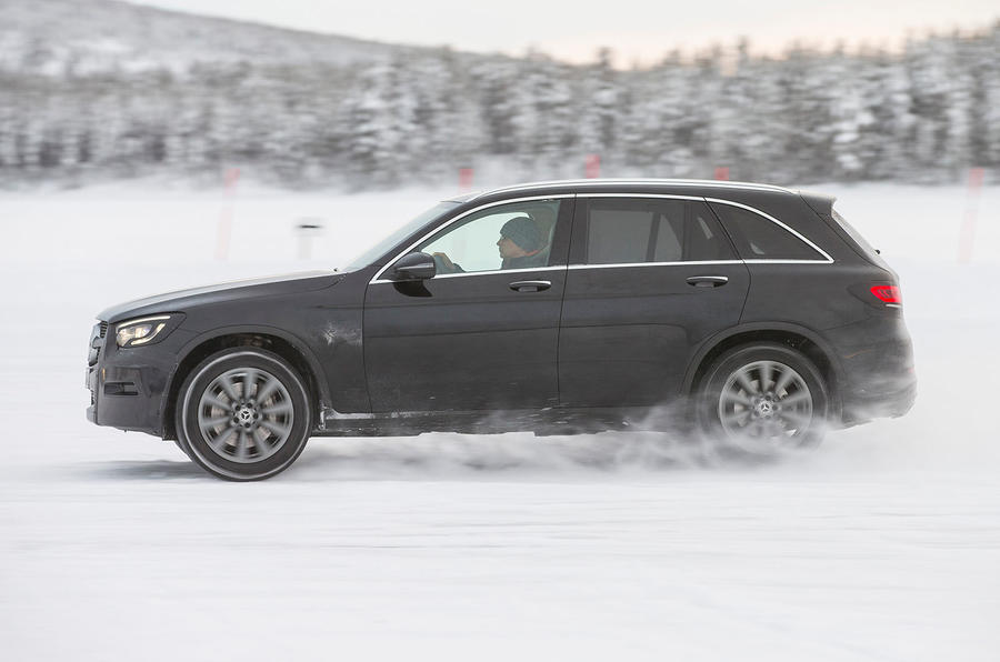 Mercedes-Benz GLC 300 2019 prototype drive - hero side