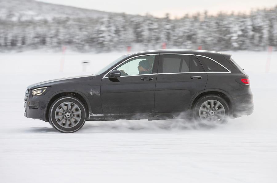 Mercedes-Benz GLC 300 2019 prototype drive - hero side