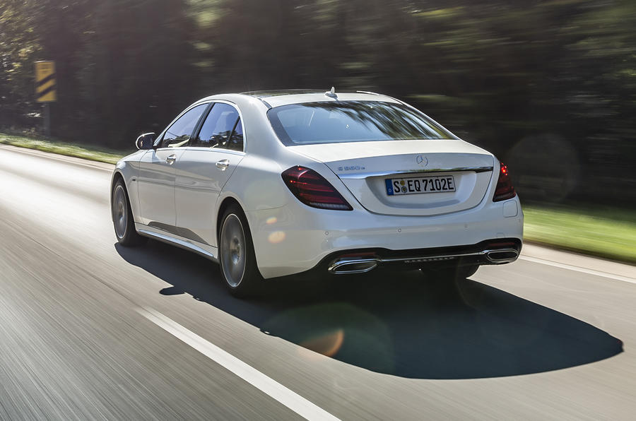 Mercedes-Benz S-Class S560e 2018 first drive review - hero rear
