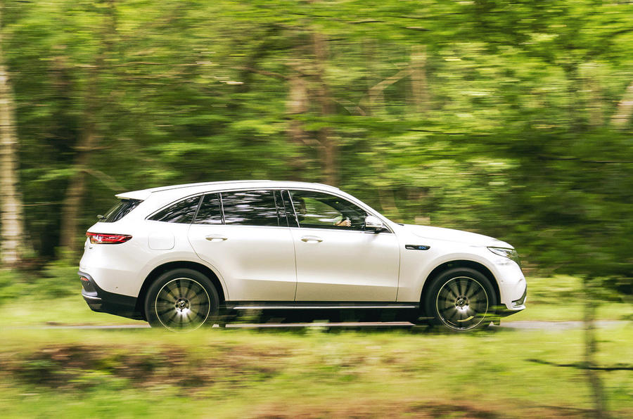 Mercedes-Benz EQC 400 2019 UK first drive review - hero side