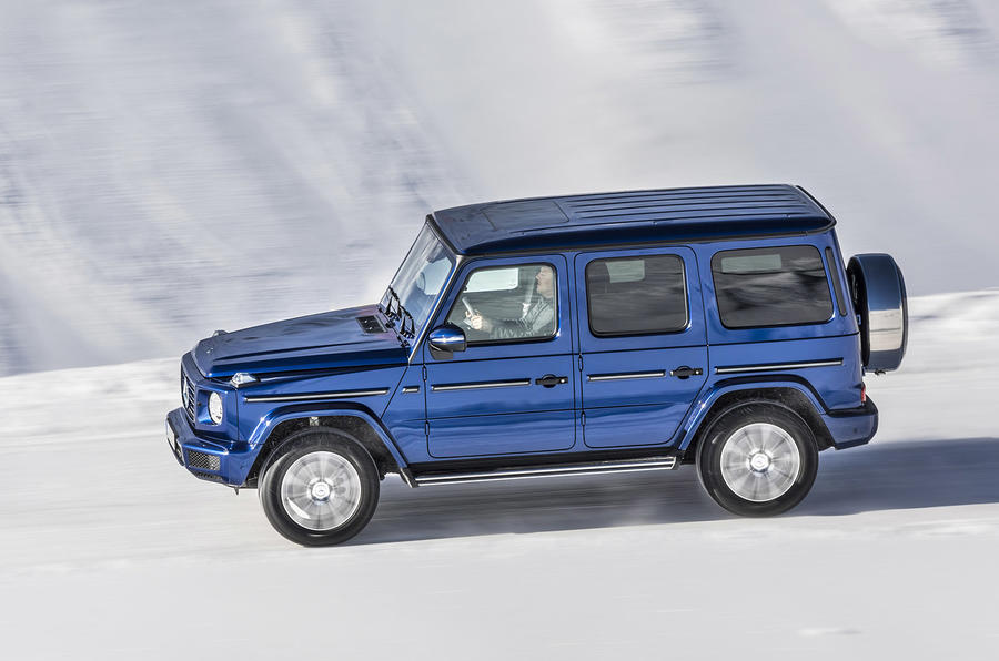 Mercedes-Benz G-Class G350d 2018 first drive review - snow side