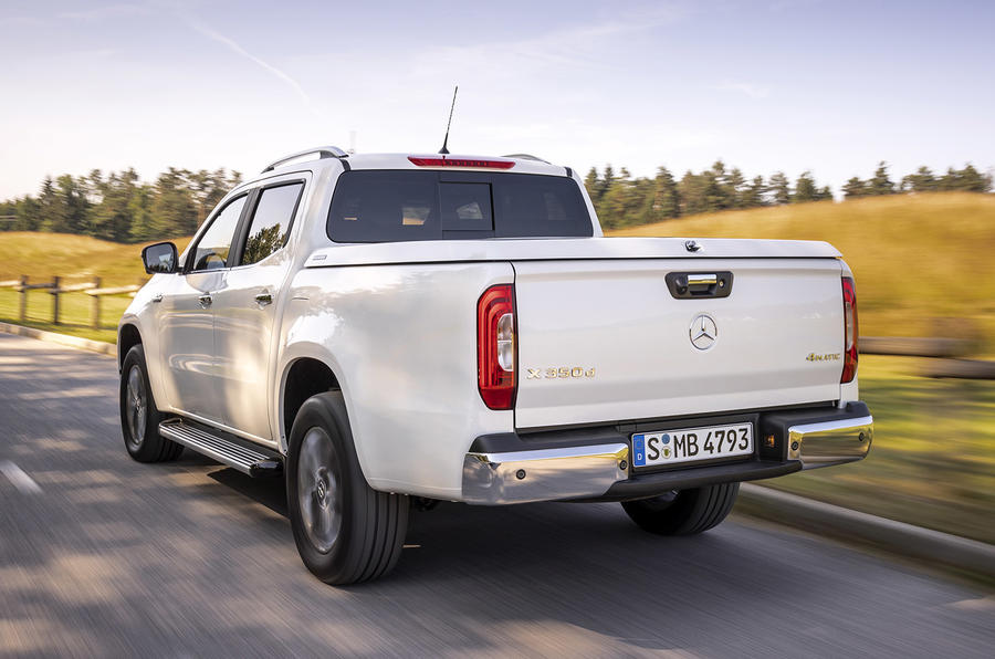 Mercedes-Benz X-Class X350d 2018 first drive review hero rear