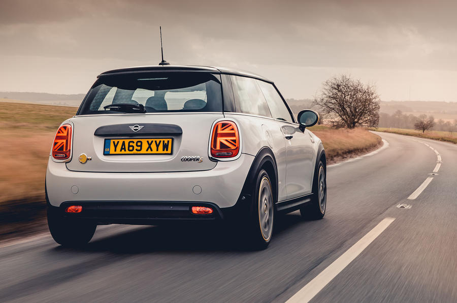 Mini Electric 2020 UK first drive review - hero rear