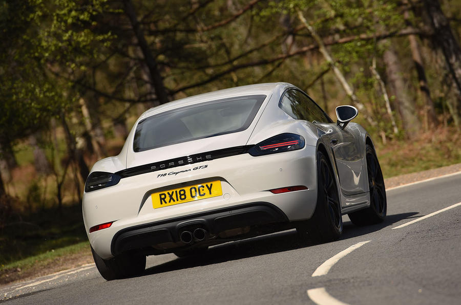 Porsche 718 Cayman GTS 2018 UK review hero rear