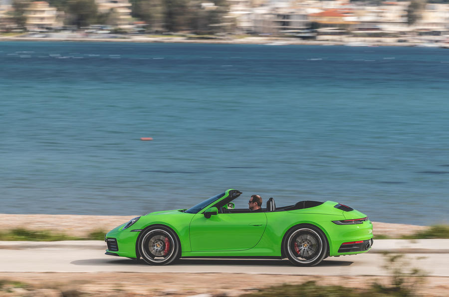 Porsche 911 Cabriolet 2019 first drive review - hero side