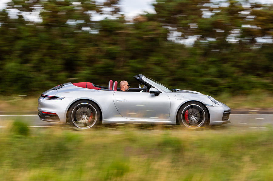 Porsche 911 Carrera 4S Cabriolet 2019 UK first drive review - hero side