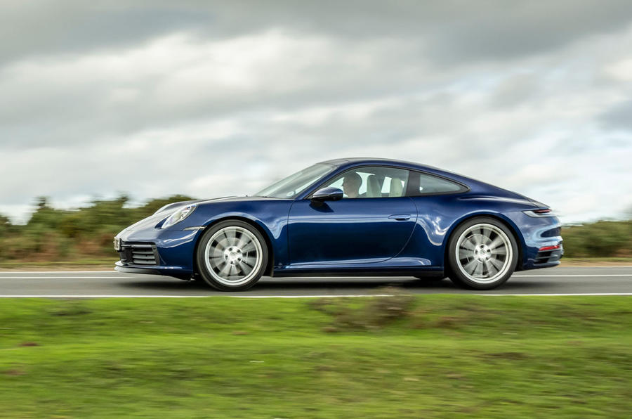 Porsche 911 Carrera S manual 2020 first drive review - hero side