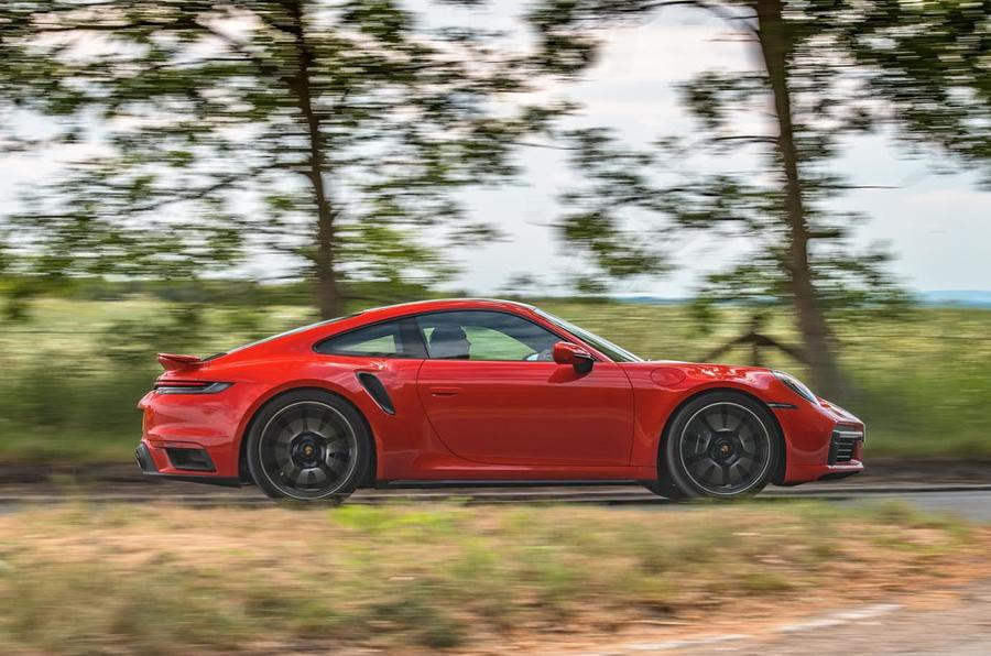 Porsche 911 Turbo S 2020 UK first drive review - hero side