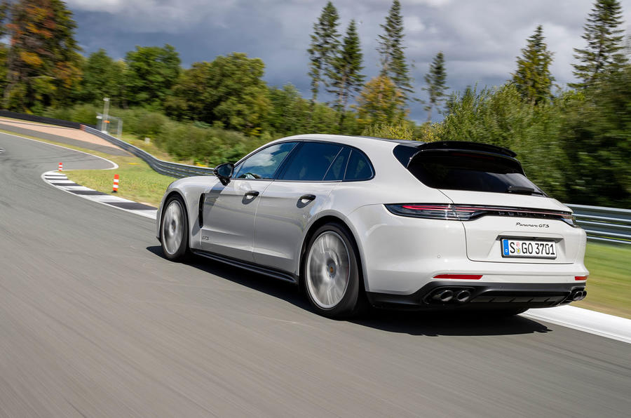Porsche Panamera GTS Sport Turismo 2020 first drive review - hero rear
