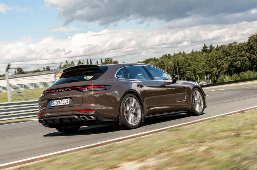Porsche Panamera Turbo S Sport Turismo 2020 first drive review - hero rear