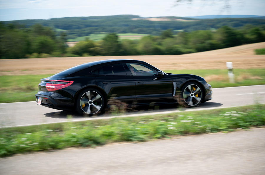 Porsche Taycan 2020 first drive review - hero side