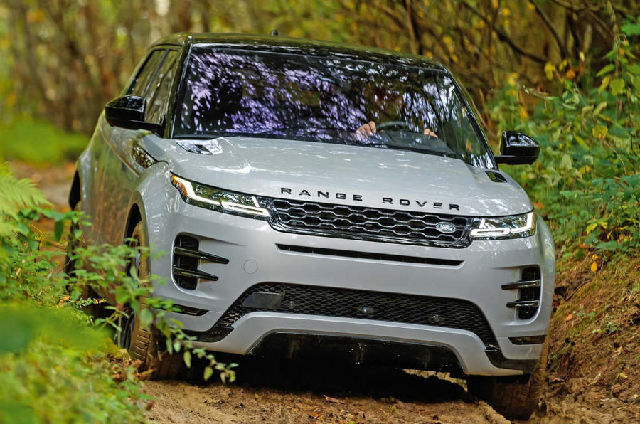 Range Rover Evoque 2019 official reveal - offroad front