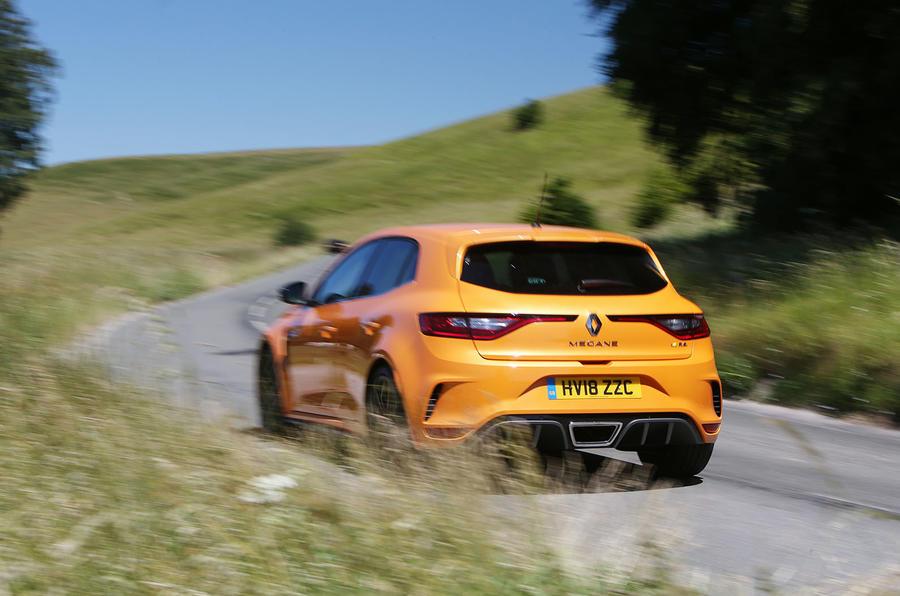 Renault Megane RS 2018 UK first drive hero rear