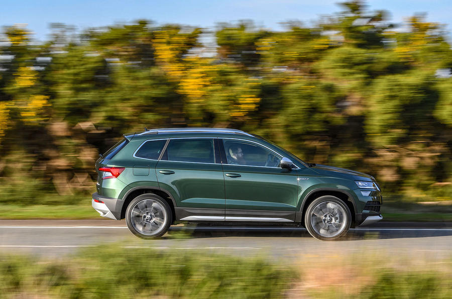 Skoda Karoq Scout 2019 first drive review - hero side